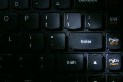 Enter key of a laptop computer keyboard Royalty Free Stock Photos
