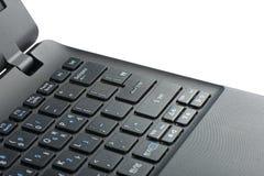 Enter key on a laptop computer keypad Stock Photo