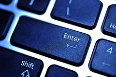 Enter key from laptop keyboard Stock Images