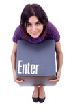 Enter key Royalty Free Stock Photos