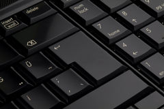 Enter keyboard. Black on the keyboard, the enter button Royalty Free Stock Photo