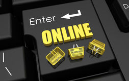 Enter online shopping concept Royalty Free Stock Photos