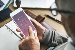 Enter Passcode Security System Concept Stock Images