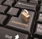 Enter Password Stock Image