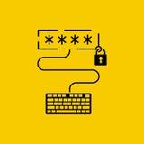 Enter password, concept. stock illustration