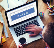 Enter Pending Waiting Approved Reject Concept Royalty Free Stock Images