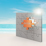 Enter puzzle concept Royalty Free Stock Image