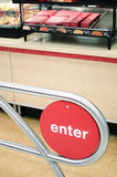 Enter Sign for Fast Food Restaurant in the United States Royalty Free Stock Image