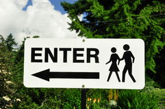 Enter Sign Stock Images