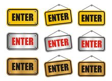 Enter signs Royalty Free Stock Photography