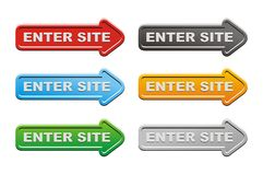 Enter site buttons - arrow buttons Royalty Free Stock Photography