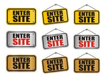 Enter site signs Stock Image