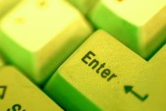 ENTER-Taste (Gelb) Stockbild