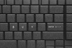 Enter to buy now. Buy word with enter keypad on computer keyboard Stock Photography
