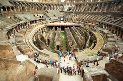 Enter to circle of arena in ancient Coliseum Royalty Free Stock Photography