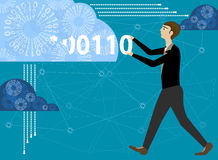Enter to cloud computing Stock Images