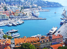 Enter to the famous port of Nice royalty free stock photo