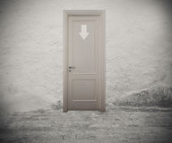 Enter to the right door Royalty Free Stock Photo