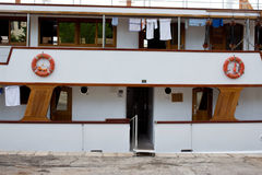 Enter To Ship. Shipboard With Opened Door to Cabin Royalty Free Stock Images