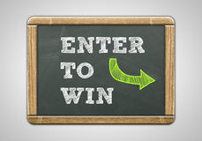 Enter to win. Blackboard concept Royalty Free Stock Images