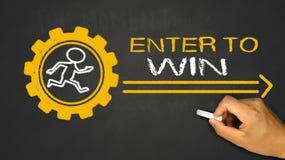 enter to win concept Royalty Free Stock Photos