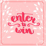 Enter to win. Giveaway banner for social media Stock Images