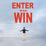 Enter to Win. Message on the sky Royalty Free Stock Photos
