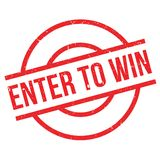 Enter To Win rubber stamp Royalty Free Stock Photos