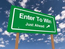 Enter to win sign Royalty Free Stock Photos