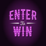 Enter to Win Vector Sign Stock Photography