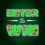 Enter to Win Vector Sign Stock Image