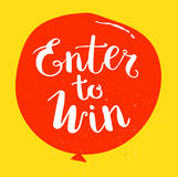 Enter to Win Vector Sign Royalty Free Stock Images