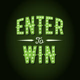 Enter to Win Vector Sign Stock Photo
