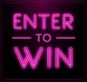 Enter to Win Vector Sign, Win Prize Stock Image