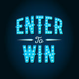 Enter to Win Vector Sign, Win Prize. Win in Lottery stock illustration