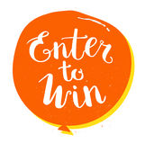 Enter to Win Vector Sign, Win Prize Royalty Free Stock Photo