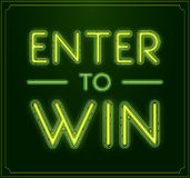Enter to Win Vector Sign, Win Prize, Win in Lottery Stock Images