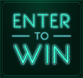 Enter to Win Vector Sign, Win Prize, Win in Lottery Royalty Free Stock Photography
