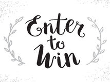 Enter to Win Vector Sign, Win Prize, Win in Lottery. EPS 10 royalty free illustration