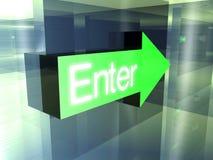 Enter - This way Stock Photos