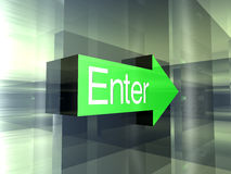 Enter - This way Stock Images