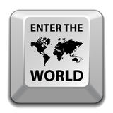 Enter the world key Stock Photos
