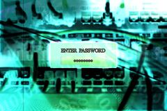 Enter your safe password on digital screen royalty free stock images