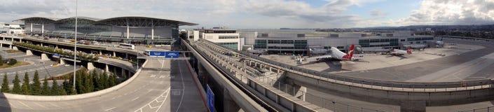 Enterance d'aéroport de San Francisco panoramique Images stock