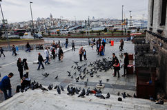 Enterance of the New Mosque, Istanbul. New Mosque Yeni Cami - pronounced Yeni jami, Istanbul, TURKEY October, 2014 Stock Photo