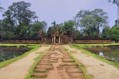 Enterance orientale di Banteay Srei Fotografia Stock
