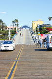 Enterance of Santa Monica Pier Stock Photo