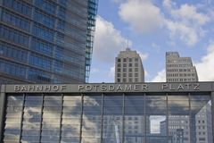 Enterance to Potsdamer Platz U-Bahn station Stock Photo