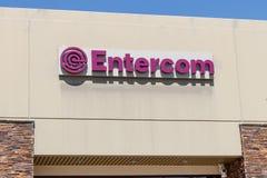 Entercom lokalt kontor Entercom kommunikationer är ett offentligt handlat sända företag och radionätverk I royaltyfri bild