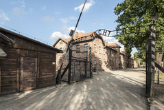 Entered the concentration camp of auschwitz poland europe Stock Image